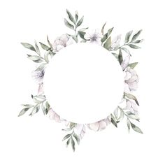 Cute Wallpapers, Wallpaper Backgrounds, Iphone Wallpaper, Wreath Watercolor, Watercolor Flowers, Flower Frame, Flower Art, Cute Wallpaper For Phone, Floral Border
