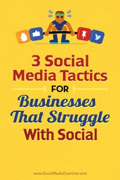 Are you struggling to connect with your audience on social media?  Its not easy to put every business on social media, but the right approach can help even the most difficult cases reach their customers.  In this article, youll discover three ways any b