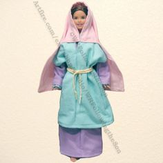Biblical Hams Wife Blue and Purple Dress Barbie Fashion Doll Outfit | WRFollowingtheSon