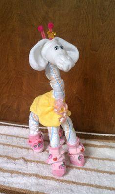Giraffe Baby Diaper Cake