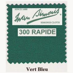 Kit tapis Simonis 300 B220 Vert Bleu - 225,00 €  #Jeux