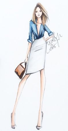 @hnicholsillustration/ hnillustration.etsy.com  Be Inspirational ❥ Mz. Manerz: Being well dressed is a beautiful form of confidence, happiness & politeness
