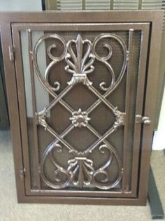 Home return air vent cover...much nicer!! Decorative wrought iron vent cover Caesar style by Extravavents, $299.00