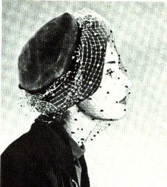 Christian Dior hat designed by Sygur, French Vogue,  Fall 1947