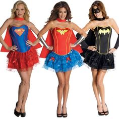 Adult DC Comics Superhero Wonder Woman Batgirl Or Supergirl Sexy Corset Costume Photo:  This Photo was uploaded by TvStoreOnline. Find other Adult DC Com...