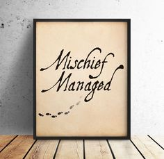 Marauders Map Printable Quote | Harry Potter | Mischief Managed | Wall Art…