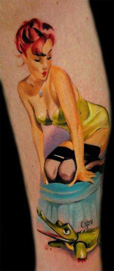 pin up girl tattoo | Tumblr