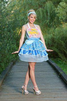 Vintage Cinderella Adult Apron Costume by DollStreet on Etsy, $80.00