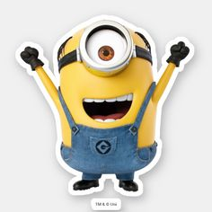 Shop Despicable Me Minion Art, Minions Despicable Me, My Minion, Funny Minion, Funny Jokes, Minions Movie Characters, Minion Movie, Minion Stickers, Cute Stickers