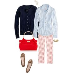 """Nay, chambray & red"" by maomi on Polyvore"