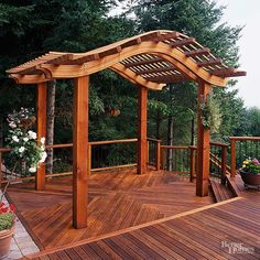 Just like it can enhance a patio, the right arbor can add drama to your deck. Keep the style and scale of your structure consistent with the rest of your deck for an extra-special, beautiful area.