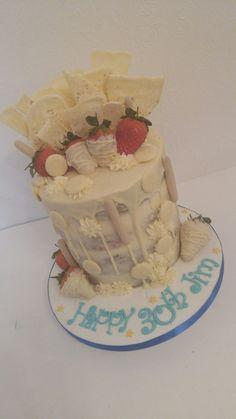 White  chocolate drip cake Chocolate Drip Cake, White Chocolate, Drip Cakes