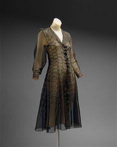 Madeleine Vionnet. Cocktail dress. 1936. The Met.