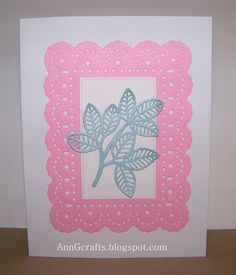 Ann Greenspan's Crafts: Pink and Blue Leaf