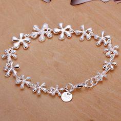 silver plated jewelry bracelet fine fashion club bracelet and retail SMTH156