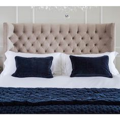 Buy the beautifully designed Plushious Velvet Bedspread in Navy Blue, by The French Bedroom Company. Shop 24 hours a day for Effortless Luxury Online.
