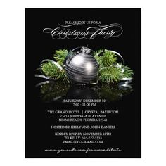 Christmas Party Invitation With Ornament