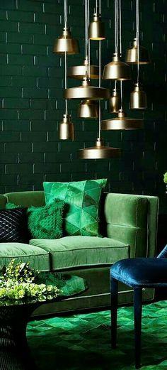 Decor Interior Design, Luxury Interior, Green Home Decor, Hair Shop, Dena,  Velvet