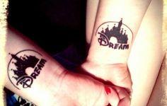 Disney Themed Best Friend Tattoos