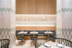 File Under Pop Chevron tiles at Claus Meyer's new restaurant Agern in Grand Central Station New York