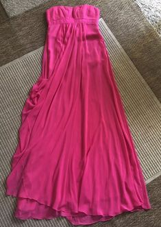 online store 3a143 1de7b BCBG Max Azria Womens Pink Strapless Maxi Evening Dress Gown Size 0 New Nwt    eBay