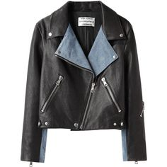 Acne Rita Leather Jacket ($1,150) ❤ liked on Polyvore