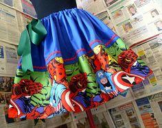 Super Hero Skirt, Avengers Skirt, Marvel Skirt, Geek Skirts, Womens Skirts, ROOBYS. £35.00, via Etsy.