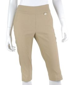 "Meet a part of our Miracle Bottoms collection, this EP Pro Ladies & Plus Size Bi Stretch 27"" Pull On Golf Capris! Delivers form flattering, tummy tucking slimness! A wardrobe must have – every golf babe will want one in every color! #lorisgolfshoppe"