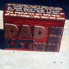 Memory Box for Dad - Great birthday or Father's Day present!! Easy and fun to make :)