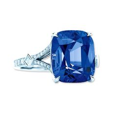 Tiffany & Co. Cushion-Cut Spinel Diamond and Platinum Ring. $35,000.