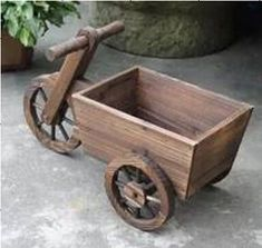 Hanging drip garden bySolidWoodWorks on Etsy - Grig Gog Wooden Garden Ornaments, Wooden Planters, Planter Boxes, Planter Garden, Wooden Bicycle, Bicycle Decor, Wooden Pallet Projects, Small Wood Projects, Wooden Cart