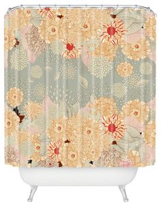 Iveta Abolina Creme De La Creme Shower Curtain - Eclectic - Shower Curtains - by DENY Designs (THATS THE SHOWER CURTAIN I LOVE AND WANT!!! Need it cheaper though!)