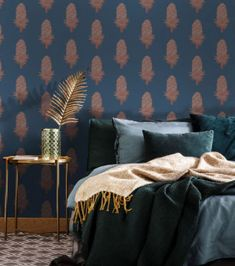 This navy bedroom looks so luxurious. We've rounded up some of our favorite examples to prove that this color is much more than a traditional hue—check out these beautiful navy blue bedrooms.