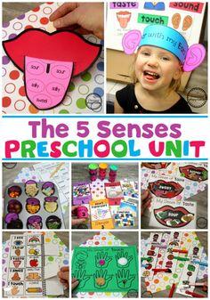5 Senses Activities for Preschool Progetto 5 sensi 5 Senses Craft, Five Senses Preschool, 5 Senses Activities, My Five Senses, Body Preschool, Preschool Centers, Kindergarten Science, Preschool Learning Activities, Preschool Themes