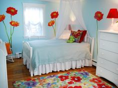 Vivacious Little Girl Bedroom Ideas; Pink and Purple: Girl Bedroom Ideas Painting