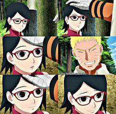 "I'll protect you."" Uzumaki Naruto to Uchiha Sarada Boruto And Sarada, Naruto Shippuden, Otp, Anime Stories, Boruto Next Generation, Anime Merchandise, Anime Costumes, Don't Worry, Dragon Ball"