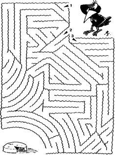 Maze Worksheet, Tracing Worksheets, Preschool Worksheets, Preschool Activities, Mazes For Kids, Printable Activities For Kids, Maze Puzzles, Picture Puzzles, Activity Sheets
