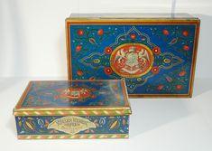Régi Kugler Henrik Gerbeaud Confiserie fémdobozok / Vintage Chocolate Box, Candy Box