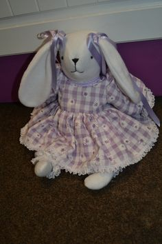 flopsy - made in sewing class from flannel!