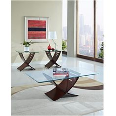 Elhan Coffee and End Tables - Set of 3 from Brookstone $250