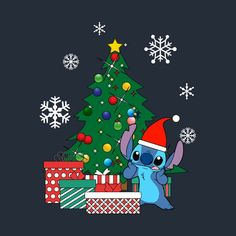 Check out this awesome 'Stitch+Christmas+Tree+Lilo+And+Stitch' design on – Wallpaper ideas Christmas Phone Wallpaper, Disney Phone Wallpaper, Winter Wallpaper, Holiday Wallpaper, Wallpaper Iphone Cute, Cute Wallpapers, Lilo Ve Stitch, Lelo And Stitch, Cartoon Wallpaper