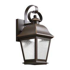 Kichler Lighting 970 Mount Vernon Outdoor Sconce  With its simple yet bold shape, the mount Vernon collection adds a touch of rustic flavor to the American