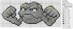 Birdie Stitching Pokemon Pattern - 74 Geodude