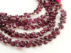 Garnet Rhodolite Beads Rhodolite Garnet Faceted by gemsforjewels