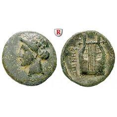 Ionien, Kolophon, Bronze 4.Jh. v.Chr., ss: Bronze 14 mm 4.Jh. v.Chr. Magistrat Ienes; Belorbeerter Kopf des Apollo l. / Lyra. BMC 13… #coins