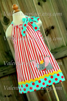 Super Cute Dumbo inspired pillowcase dress by Valentinasplace, $32.00