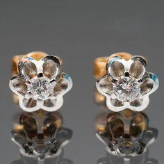 Timanttikorvakoruja pari, kultaa. Rings, Floral, Flowers, Jewelry, Jewlery, Jewerly, Ring, Schmuck, Jewelry Rings