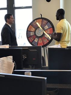 Mark Halperin spins the Marist Poll prize wheel with student head coach, Ife Benjamin. Watch @SHO_TheCircus this Sunday at 8 p.m. for more. Buy this Prize Wheel at https://PrizeWheel.com/products/floor-prize-wheels/floor-and-table-prize-wheel-12-24-slot-adaptable/.