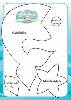Felt Under the Sea Friends Mobile Mermaid Under The Sea, The Little Mermaid, Sewing Crafts, Sewing Projects, Mermaid Theme Birthday, Mermaid Crafts, Bow Template, Templates, Little Mermaid Parties