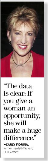 Carly Fiorina clipped from Marie Claire using Netpage.